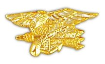 United States Navy Seal Gold Lapel Pin