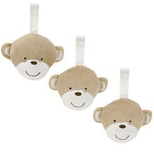 Carter's 3-Pack Plush Rattles - Monkey - 1