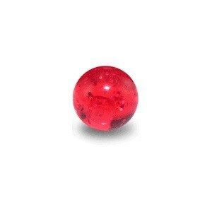 Piercing Kugel Acryl Rot UV Glitzernd - Body Piercing & Schmuck - Größe: 1.2 mm / 16 G - Kugel: 03 mm