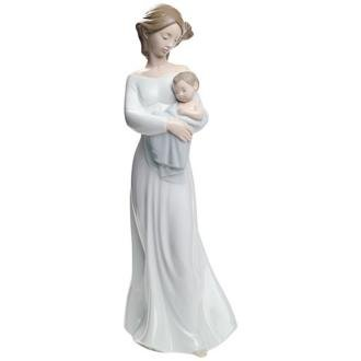 "Nao by Lladro Collectible Porcelain Figurine: MY DEAREST BOY - 11 1/2"" tall - mother with her baby son..."