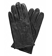 Leather Fleece Lined Gloves