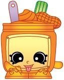 2014 SHOPKINS FIGURES - NUTTY BUTTER #016 SEASON 1 - RARE