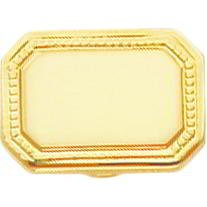 Gold Plated Rectangle Tie Tac