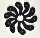 10L0L Neoprene Zippered Golf Club head Iron Covers - Set of 10