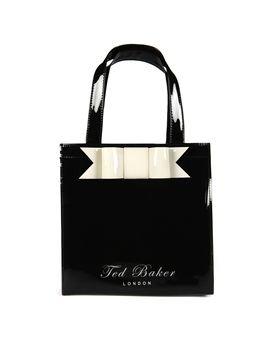 Ted Baker Bow Ikon Small Vinyl Shopper Bag Black Amazon