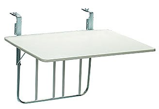 16001 Balkonklapptisch 60x80cm weiß