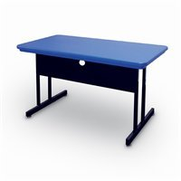Buy Low Price Comfortable Correll Rws2448-27 Blow-Molded Plastic Top Computer and Training Tables – Desk Height Work Station – Blue (B003XUVNLO)