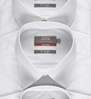 3 Pack 2in Longer Easy Care Plain Shirts