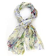 Per Una Island Floral Scarf