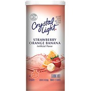 Crystal Light Strawberry-Orange-Banana Sugar Free Drink Mix, 6 Two Qt Packets(Case Of 2)