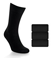 3 Pairs of Collezione Exclusive Socks with Cashmere and Silk
