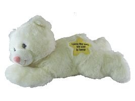 Plush Bear White Without Sound