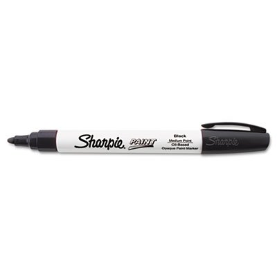 Sharpie Permanent Paint Marker, Medium Point, Black