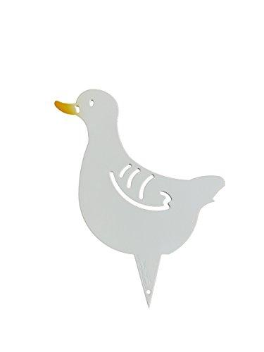 """Gartenstecker Beetstecker Gans """"Daisy"""", diese Martinsgans, diese Ente, dieses Küken, dieser Vogel ist ein echtes Schnäppchen als Präsent für Ihre Frau und auch zu Weihnachten eine besondere Geschenkidee. Ein wunderschönes Geschenk aus Metall auch zum Geburtstag. Witterungsbeständig statt Rostoptik, für Ihren Garten, als Deko vor Ihrer Haustür als Blickfang am Teich oder vor dem Brunnen."""