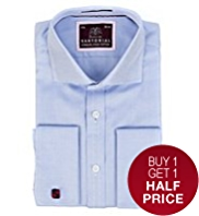 Sartorial Luxury Pure Cotton Herringbone Shirt