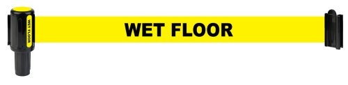 "Banner Stakes 20100031 Yellow Polyester Fabric ""Wet Floor"" Banner (Pack of 5)"