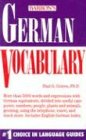 German Vocabulary (Barron's Vocabulary) (0812044975) by Paul G. Graves Ph.D.