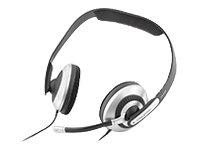 Creative HS-600 Multimedia Headset mit Mikrofon, Skype-zertifiziert schwarz/silber