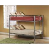 Hillsdale Universal Youth Twin over Twin Metal Bunk Bed in Silver Finish from Hillsdale