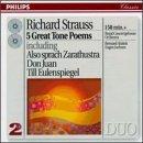 echange, troc  - Richard Strauss : 5 grands poèmes symphoniques, dont Ainsi parlait Zarathoustra, Don Juan, Till Eulenspiegel