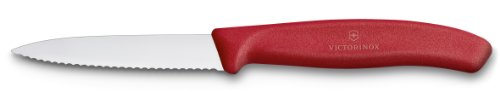 "Red Serrated 3"" Paring Knife"