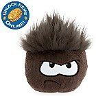 DISNEY CLUB PENGUIN BLACK PUFFLE WITH COIN CODE 6