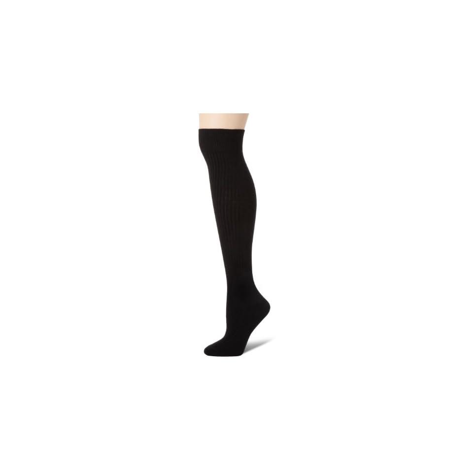 Anne Klein Womens Cashmere Boot Socks, Black, One Size