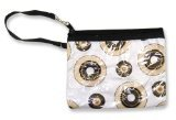 Trend Lab Hot Cocoa Print Zippered Pouch with Strap and Clasp