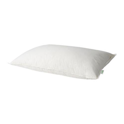 Ikea Down Pillows GOSA RAPS 100% Cotton Cover a low profile down