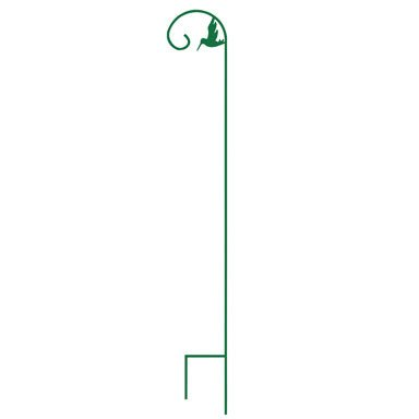 Panacea 89111 Shepherd Hook with Inside Curl and Bird, Green, 84-Inch