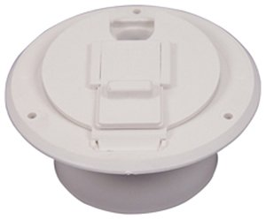 Jr Products (S-23-14-A) Colonial White Economy Round Electric Cable Hatch
