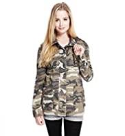 Angel Pure Cotton Camouflage Studded Jacket