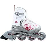 Bladerunner Girls Phoenix 4 Size Adjustable Skate, White/Pink, 11j - 1 (Color: White/Pink, Tamaño: 11j - 1)
