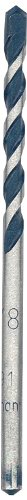 Bosch HCBG01 Blue Granite Carbide Hammer Drill Bit, 1/8-Inch by 2-Inch by 3-Inch