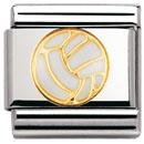 Nomination Composable Classic SPORTS Edelstahl, Email und 18K-Gold (Volleyball-Ball) 030203