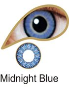 Coloured Contact Lenses with Free Solution and Case - Midnight Blue (1 Month)
