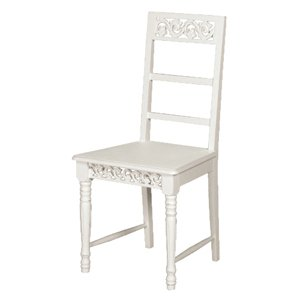 COUNTRY WHITE DINING CHAIR