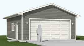 Garage Plans 2 Car Heavy Duty Garage Plan 624 1hd 24 X 26