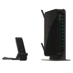NETGEAR Wireless-N 300 Router with DSL Modem DGN2200 - Wireless router - DSL - 4-port switch - 802.11b/g/n - desktop - with NETGEAR WNA3100 Wireless-N 300 USB Adapter