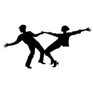 Adesivo Ballerini Rock-gravissimo, Specchio, H112.5cm X L225cm