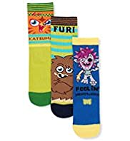 3 Pairs of Assorted Moshi Monsters Socks