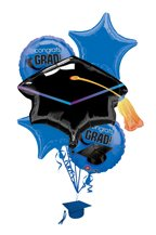 Blue Congrats Grad Balloon Bouquet