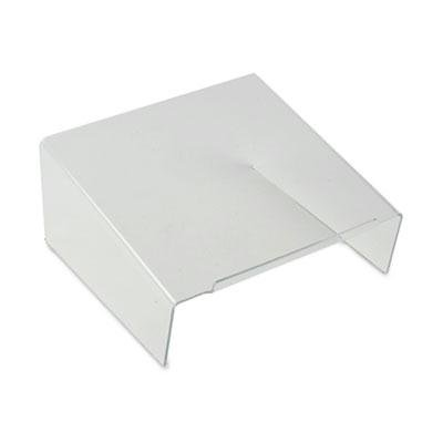 Kantek - Clear Acrylic Angled Telephone Desk Stand 10 X 9 1/2 X 4 1/2 Clear Product Category: Desk Accessories & Workspace Organizers/Platforms Stands & Shelves clear acrylic a3a4a5a6 sign display paper card label advertising holders horizontal t stands by magnet sucked on desktop 2pcs
