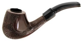 F.e.s.s. Dark Carved Bulldog Tobacco Pipe