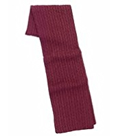 Autograph Cable Knit Scarf with Cashmere