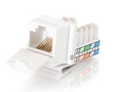 Cables To Go - Keystone jack - RJ-45 - white CAT5E 90 KEYSTONE JACK WHT Manufacturer Part Number 35201
