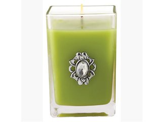 Lime Twist Medium Glass Cube Candle by Aromatique