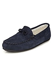 Freshfeet™ Suede Lace Moccasins with Silver Technology