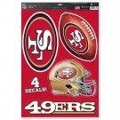 San Francisco 49ers Multi Use Decal 11″ x 17″