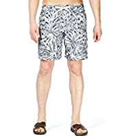 XXXL North Coast Leaf Print Quick Dry Swim Shorts
